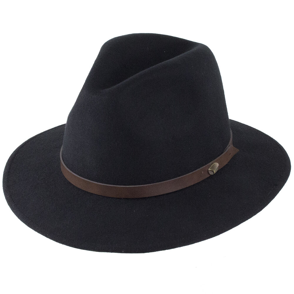 5bed88f76b2 Details about Christys  Hats Crushable Safari Fedora - Black