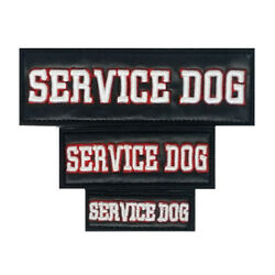 3D Embroidered Service Dog Patch Label Tag For Dog Harness Collar Vest