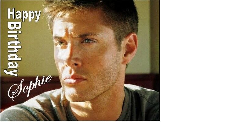 Personalised Jensen Ackles Cake Topper A4 Icing Sheet 10x8 Any Age