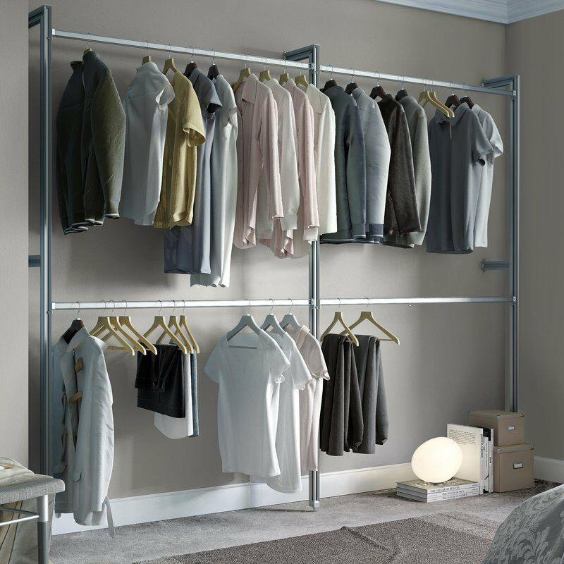 Details About E Pro Relax Wardrobe Storage Hanging System Kit 4