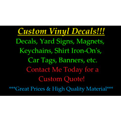 ~*~ CUSTOM ORDER VINYL DECAL for Walls banners signs tag monster low price
