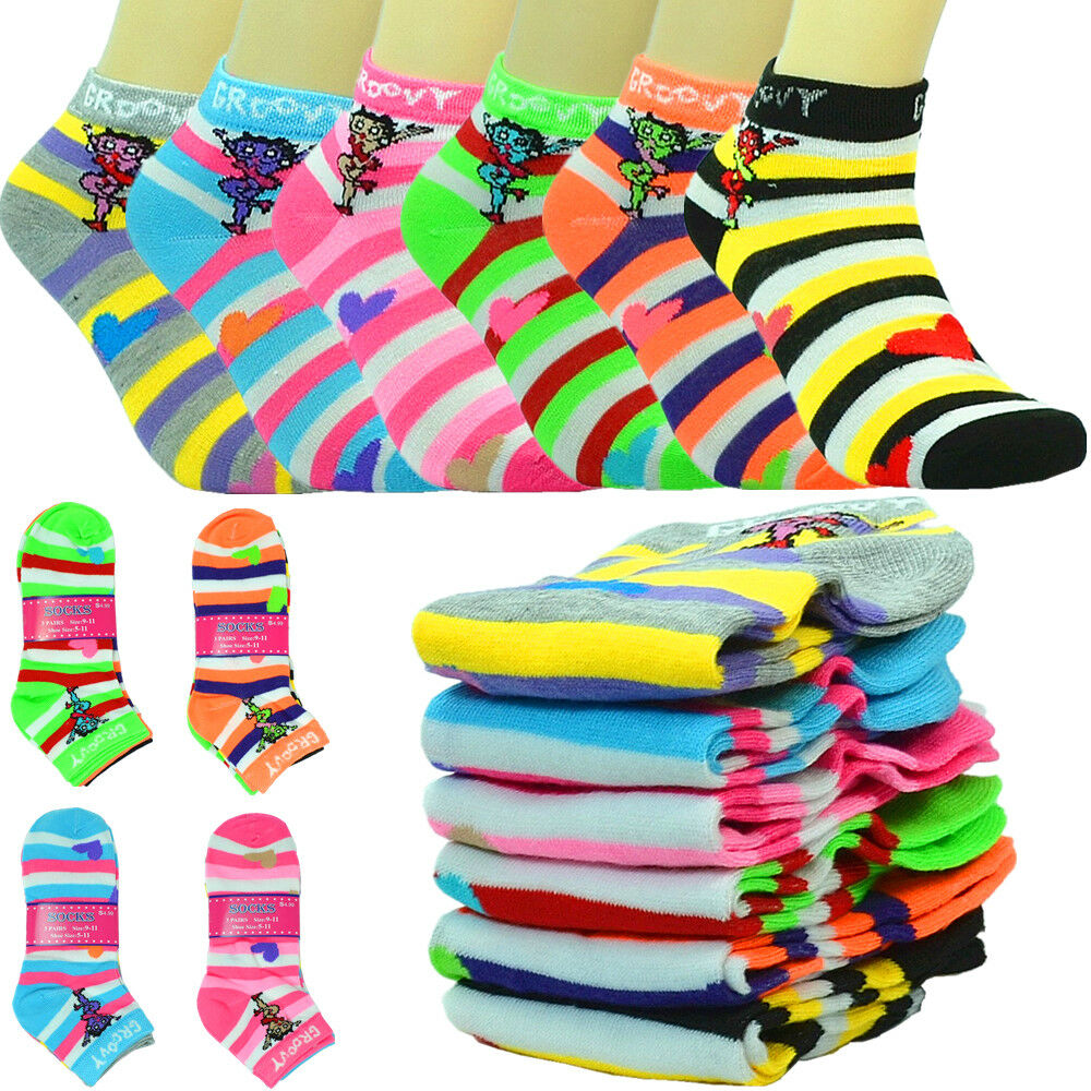 12 Pairs Women Assorted Solid Color Dress Socks NEW