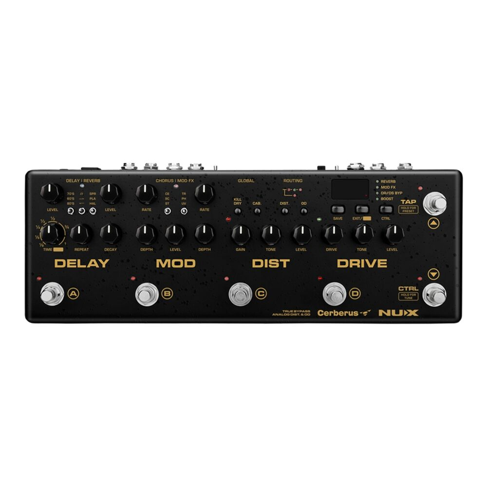 nux cerberus integrated analog guitar multi effects pedal controller w midi ebay. Black Bedroom Furniture Sets. Home Design Ideas