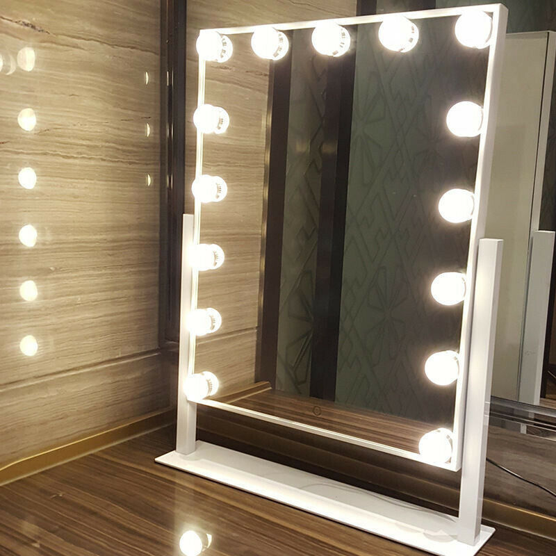 15 Led Bulbs Hollywood Vanity Makeup Mirror With Lights Dressing