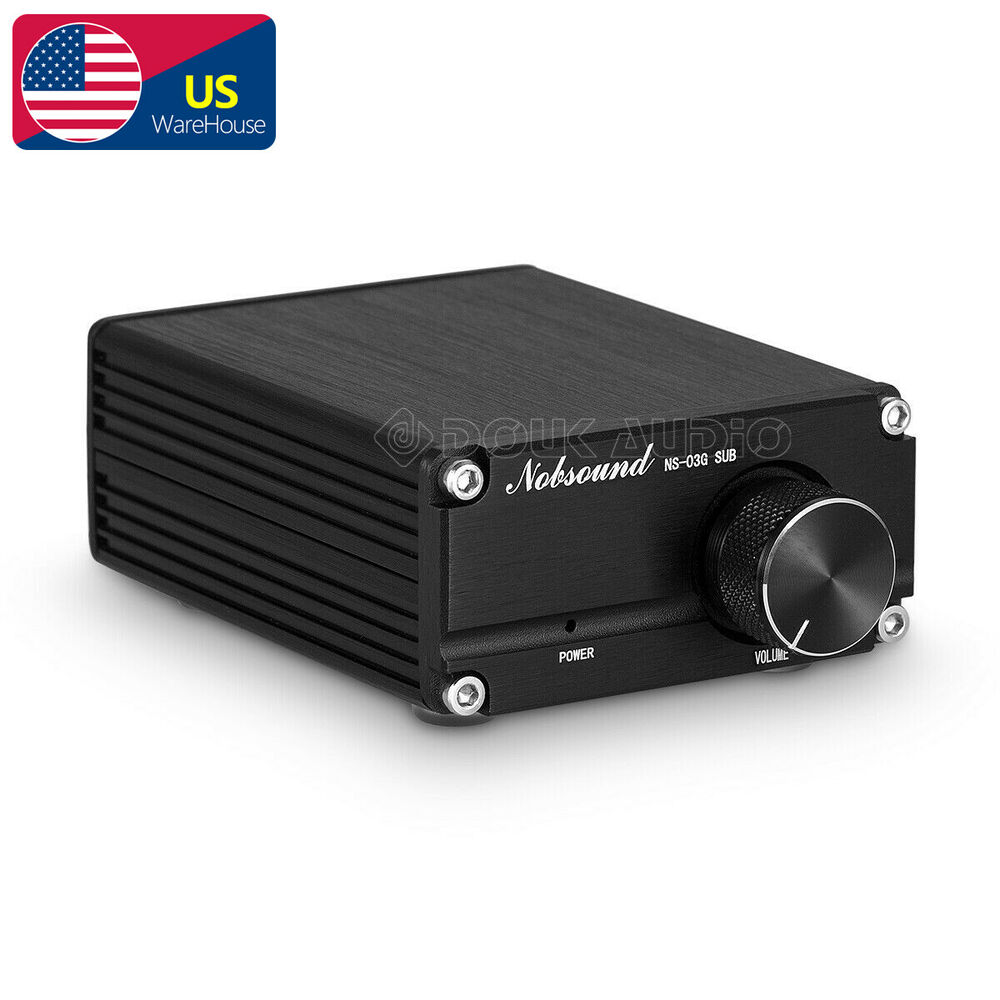 Nobsound 100w Mini Subwoofer Power Amplifier Mono Channel Audio Hifi Tube With El34 8211 35w Amp Black Gray