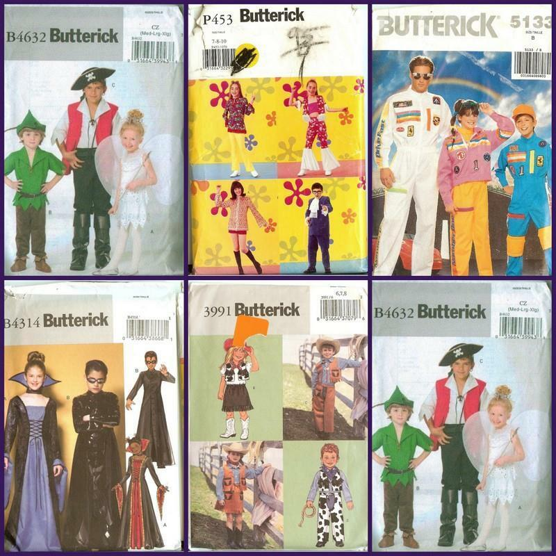 Details About OOP Butterick Patterns Halloween Costume Pattern Children  Size You Pick