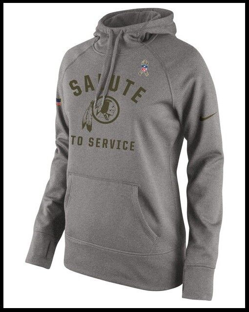 best service fb5eb 74d37 $75 Wmns S- L Nike NFL 🏈 Washington Redskins Salute to Service ThermaFit  Hoodie | eBay