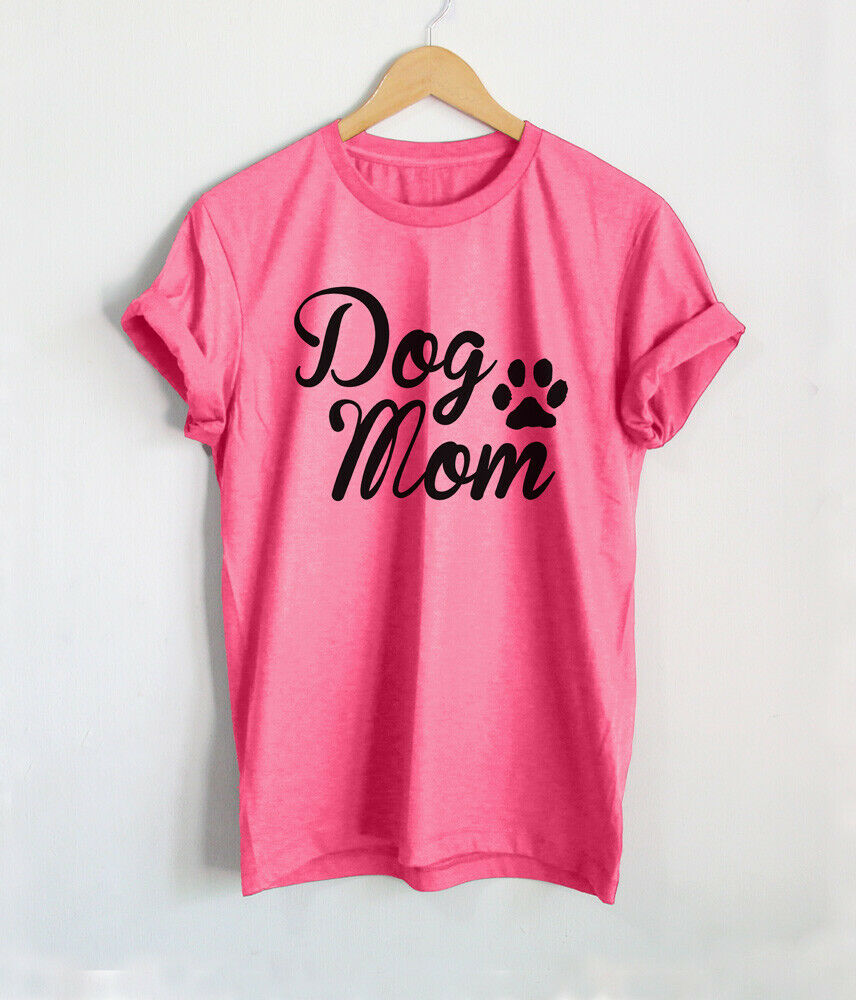 39e69fe87fdf Details about Dog Mom T Shirt Mother of Dogs Shirts Paw Mama Puppies Women  Funny Tops Gift Tee