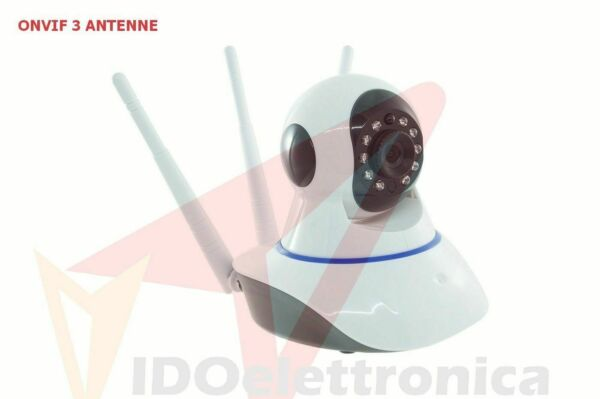 TELECAMERA IP CAM WIRELESS MOTORIZZATA SMART CAMERA WI-FI TRIPLA ANTENNA