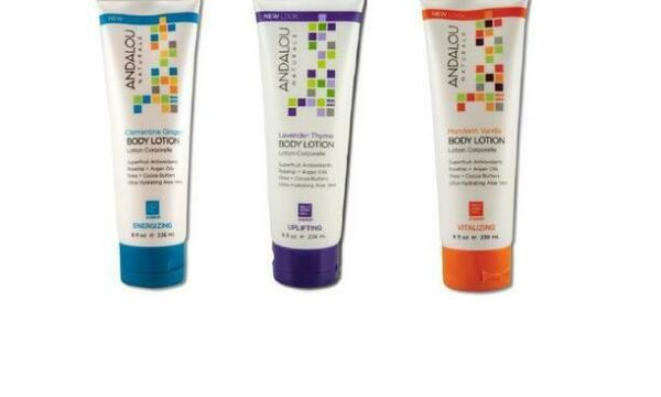 Available in 8 oz Andalou Naturals Body Lotions and also One 1.7 oz Travel Size