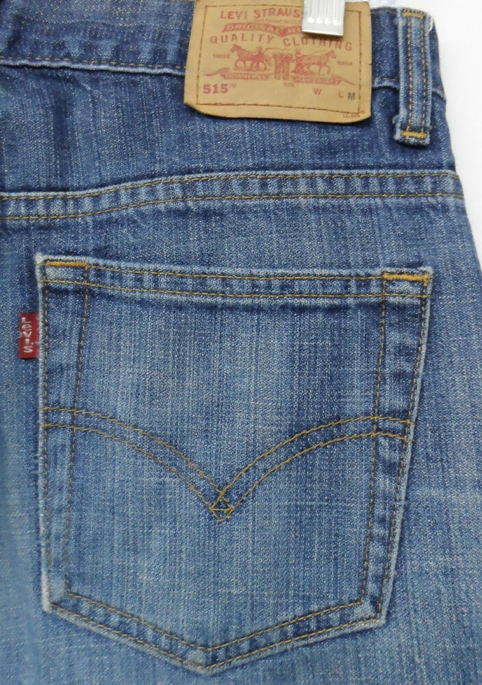 83bb0b49 Details about LEVI'S 515 JEANS BOOTCUT LOWER RISE sz 6 MIS L=M womens blue  denim^2064