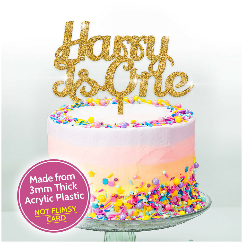 Details About FIRST BIRTHDAY Personalised Cake Topper 1ST Birthday Decoration ANY AGE One