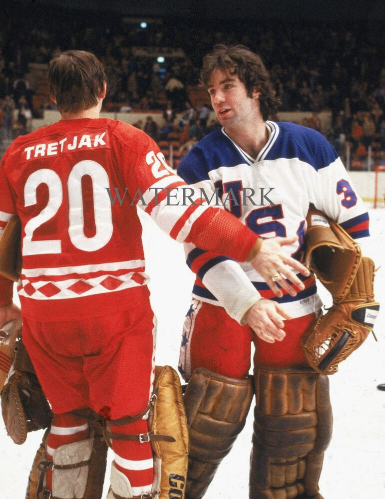 JIM CRAIG 1980 OLYMPIC USA HOCKEY TEAM MIRACLE ON ICE TRETIAK USSR 8x10  PHOTO  3c9eda0f3