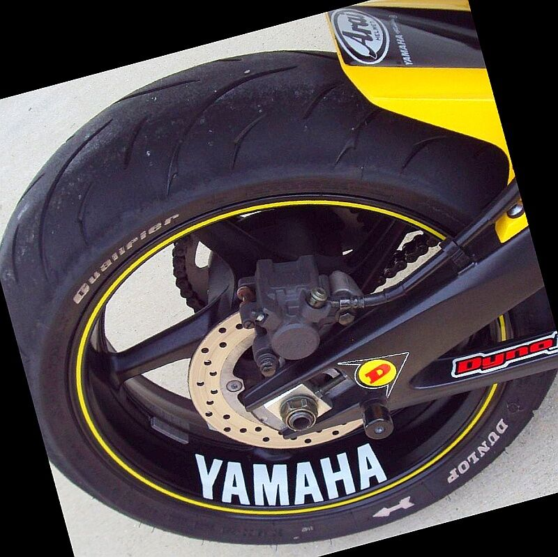 Yamaha decal sticker fz6r fzr r6 r1 600 rim fz8 fazer white decals yzf zuma ttr