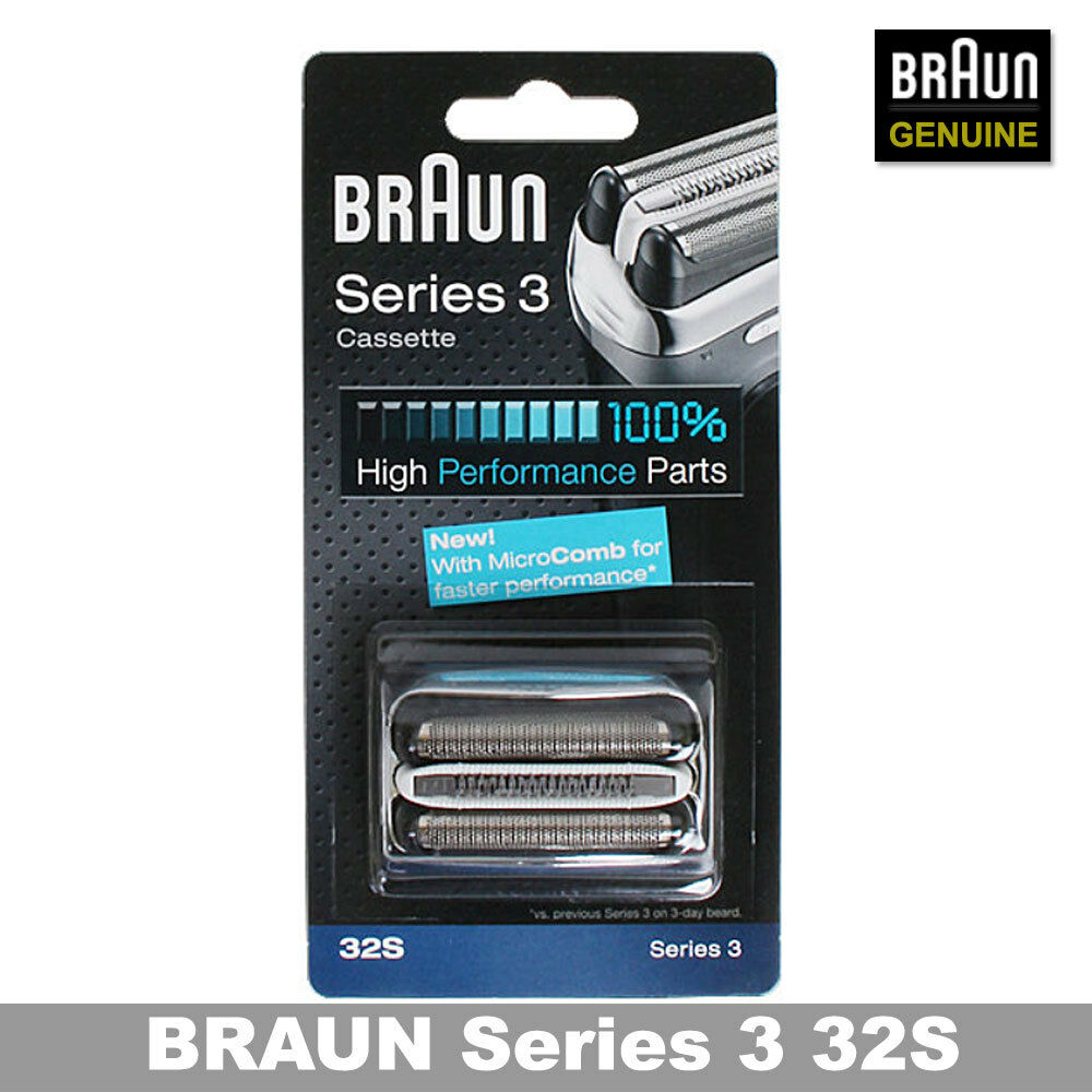 aa8de407eb2 Details about Braun 32S Series 3 Shaver Foil Cutter Head Replacement  Cassette GENUINE