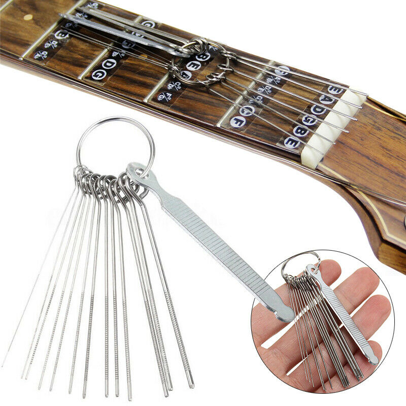 guitar nut slotting file kit saw rods slot filing luthier replace repair tools ebay. Black Bedroom Furniture Sets. Home Design Ideas