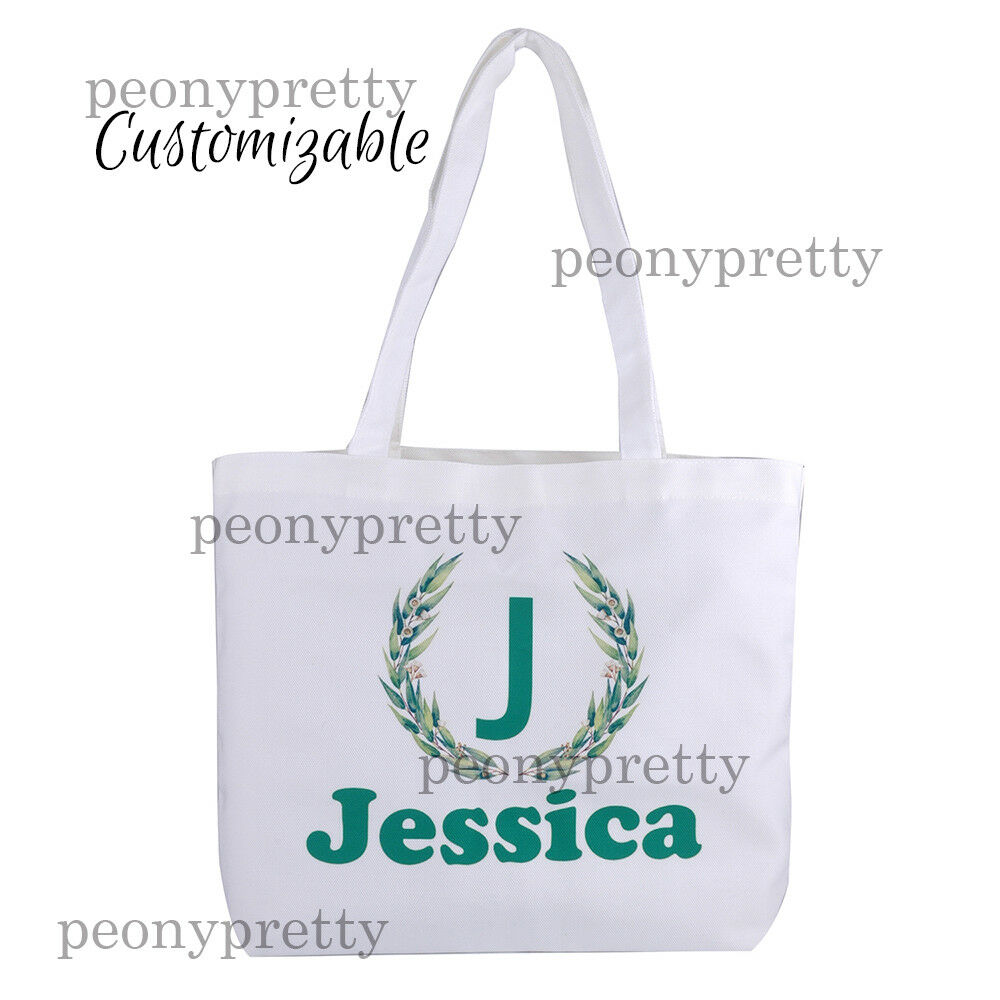 Details About Personalized Canvas Tote Bag Custom Bridal Hen Party Birthday Xmas Gift