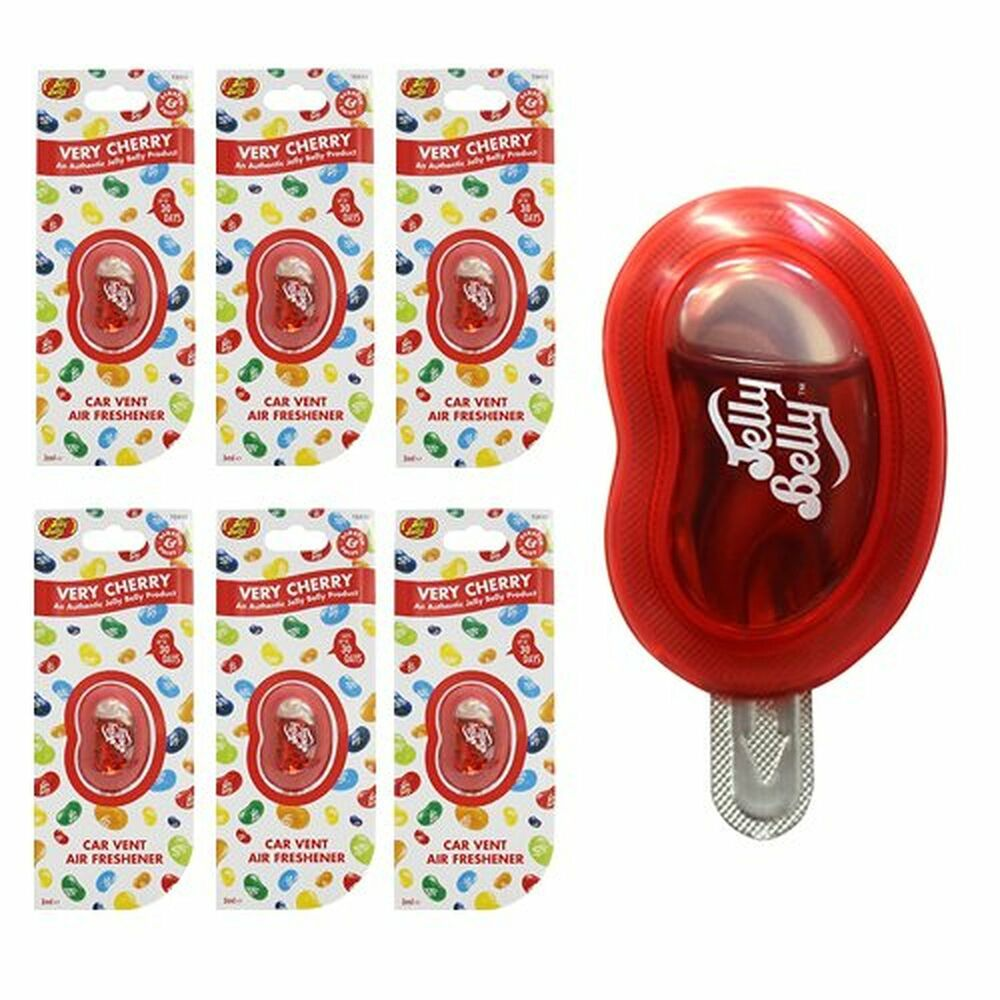 6 x jelly belly bean very cherry car vent clip air. Black Bedroom Furniture Sets. Home Design Ideas