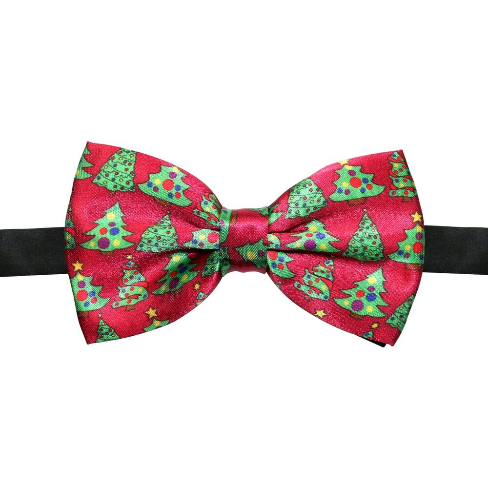 Christmas Festive Fun Design Bowties Novelty Clip-On Bow
