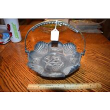 Antique SILVERPLATE Victorian  BRIDES BASKET Silver Plate Detailed Etched