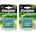 8 x Energizer AA Rechargeable Batteries 2000 mAh NiMH