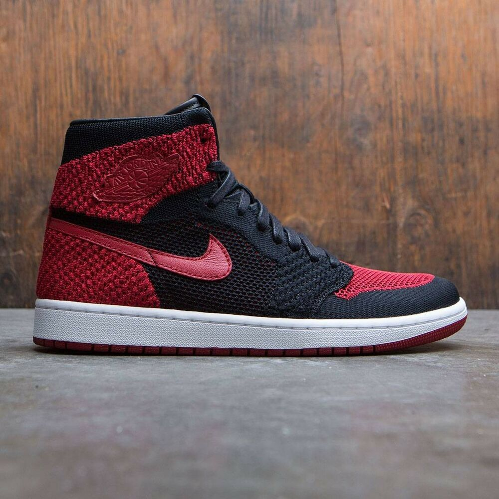 Details about Nike Air Jordan 1 Retro High OG Flyknit Bred Banned size 13.  919704-001 royal 25e0716988fd