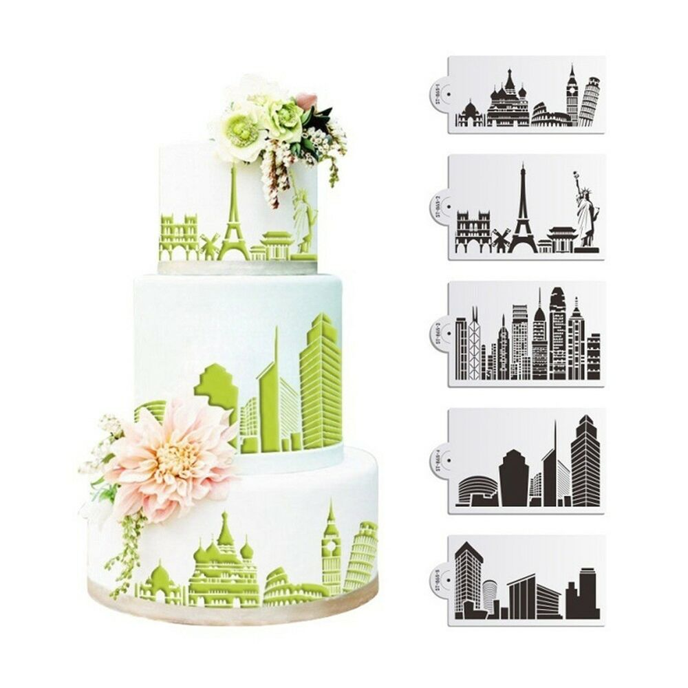 Details About Cake Stencil Carved Printing Patterns Mold Happy Birthday Spray Hot