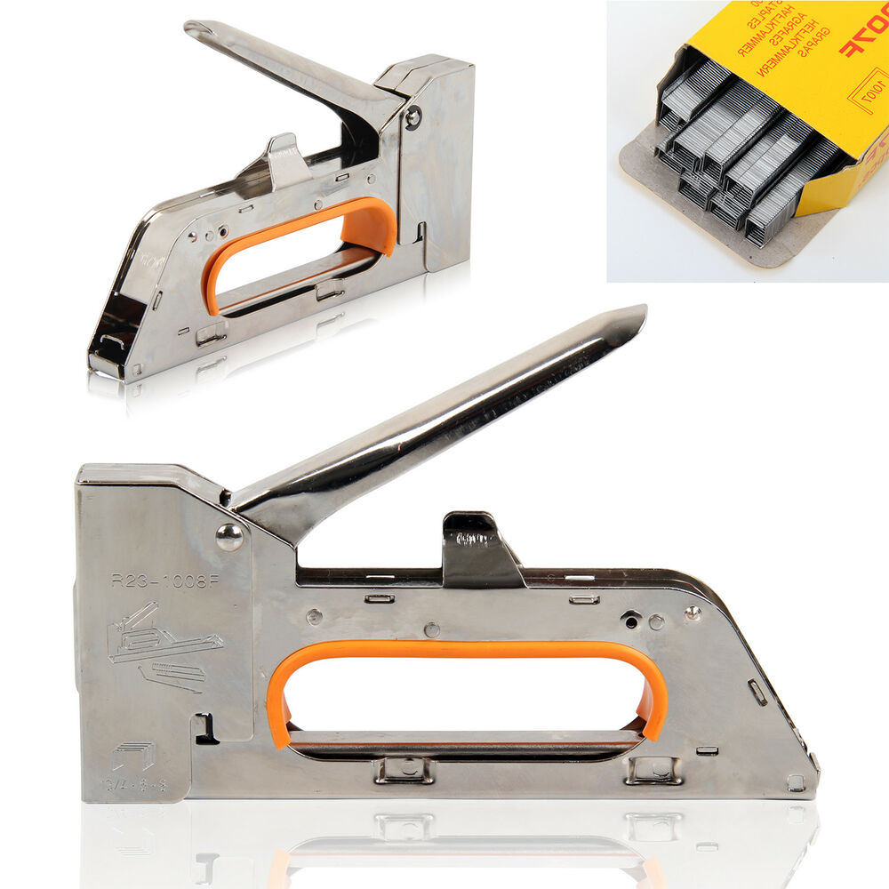 Heavy Duty Staple Gun Tacker Upholstery Stapler 1500