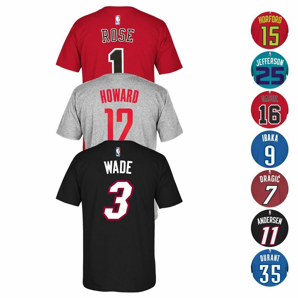 5f2dc7f3a17 NBA Team Player Name   Number Jersey T-Shirt Collection by ADIDAS - Men s