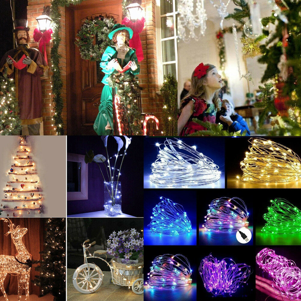 2050100 led usb fairy string silver wire fairy light party decor waterproof