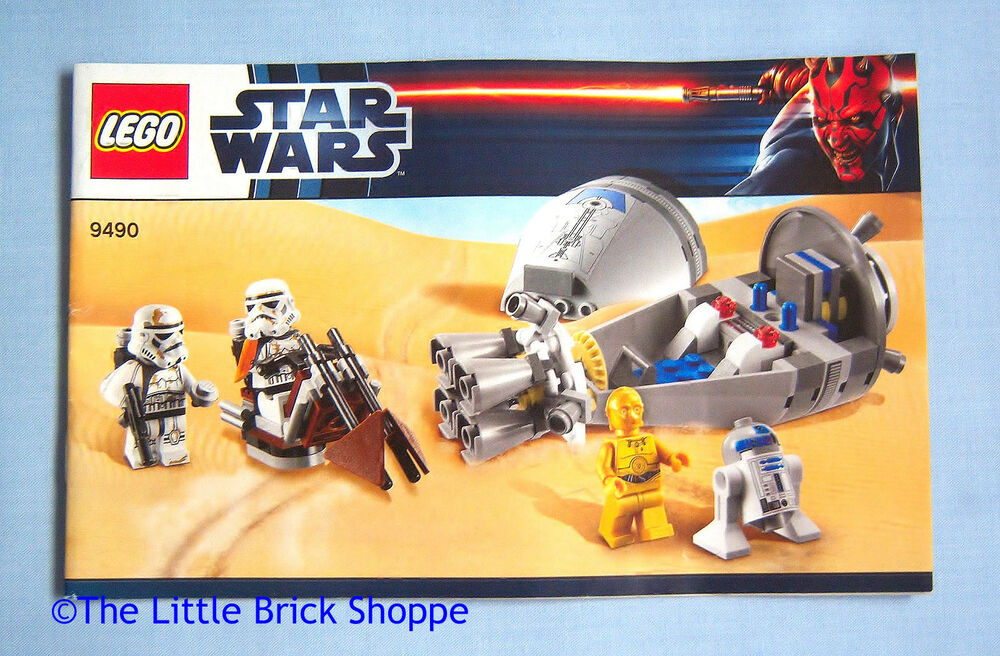 Lego Star Wars 9490 Droid Escape Instruction Book Only No Lego