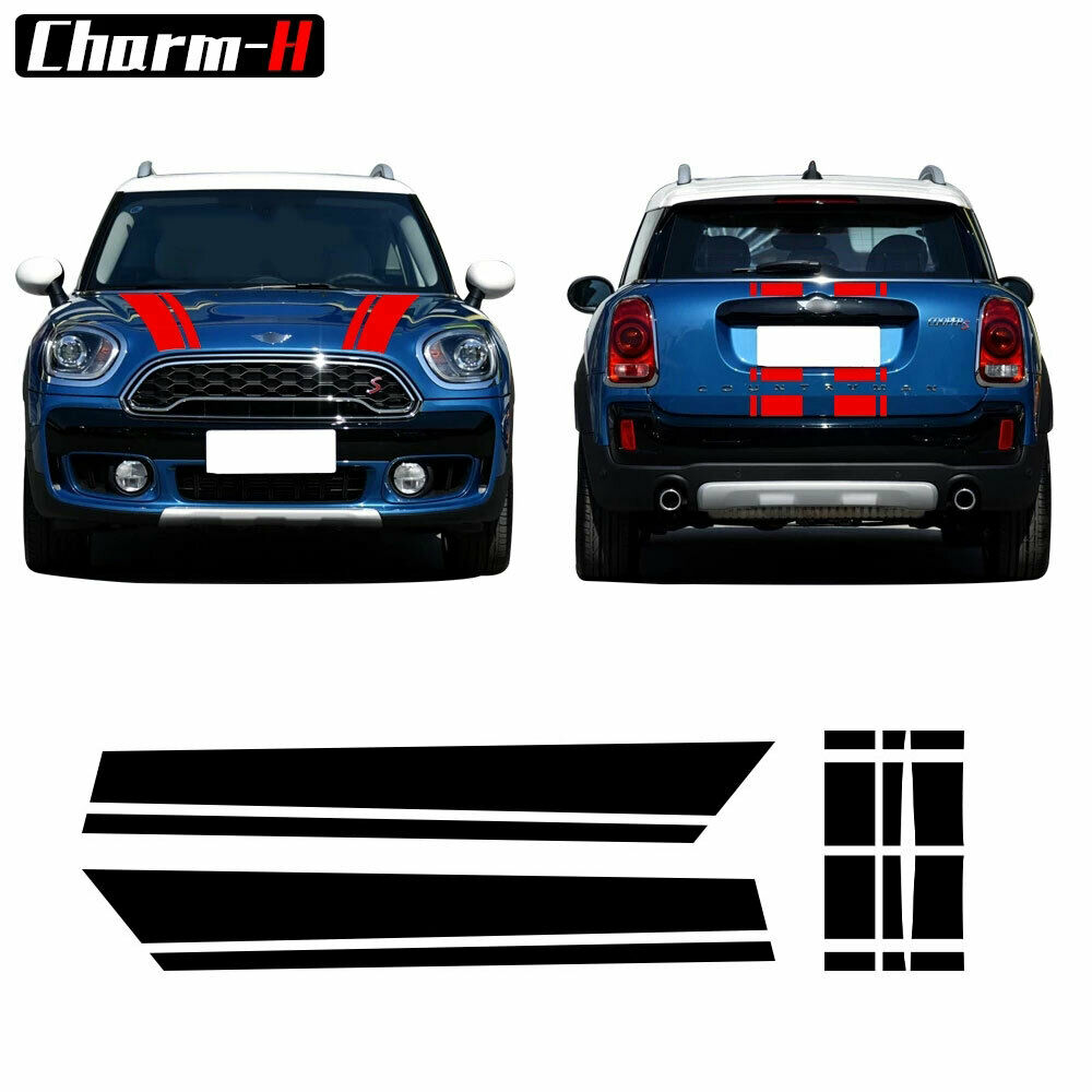 Hood Stripes Rear Graphics Decal Stickers For Mini Cooper Countryman
