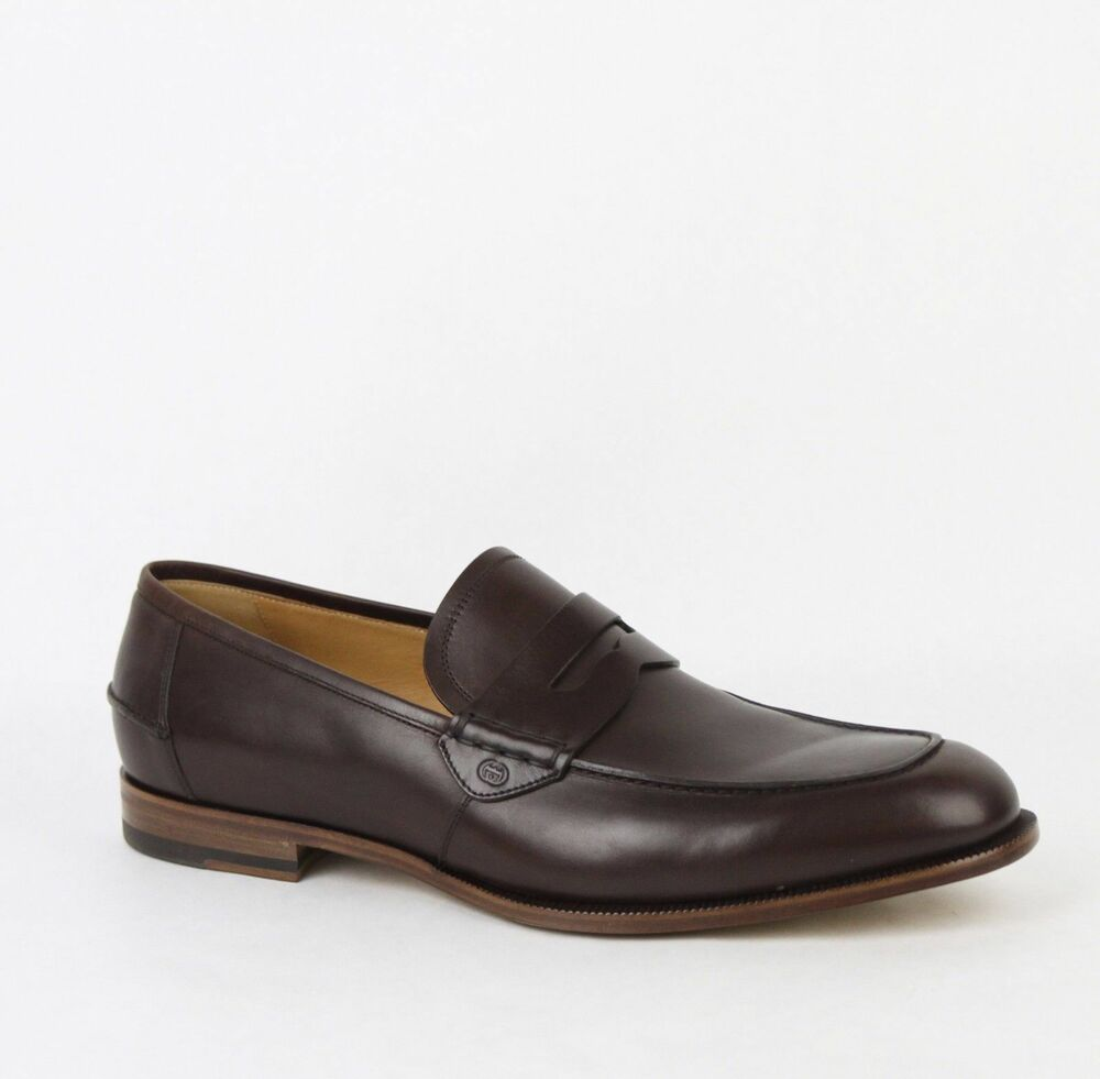 gucci dress shoes. new gucci men\u0027s brown leather loafer dress shoes gg detail 368456 2140