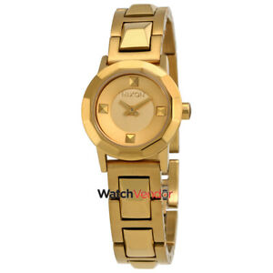 Nixon Mini B Gold Tone Dial Ladies Casual Watch A339502