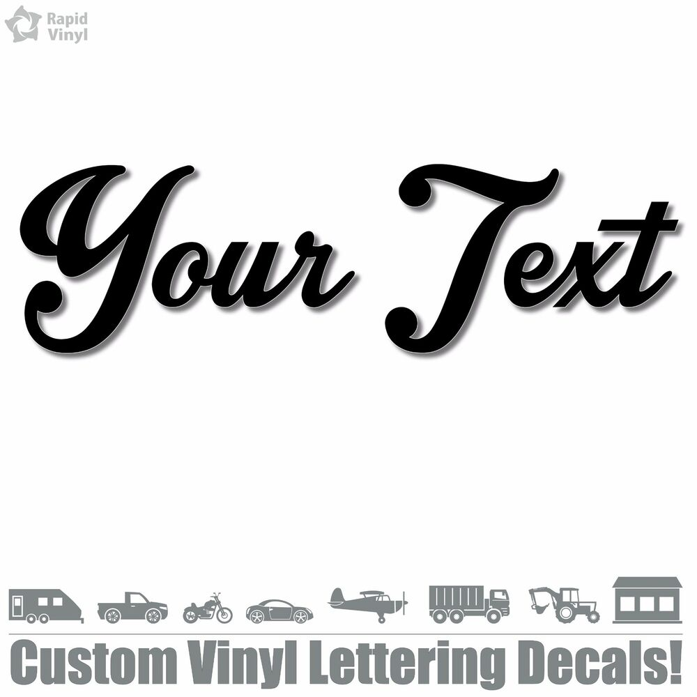 Custom text vinyl decal sticker car window bumper your personalized lettering ebay