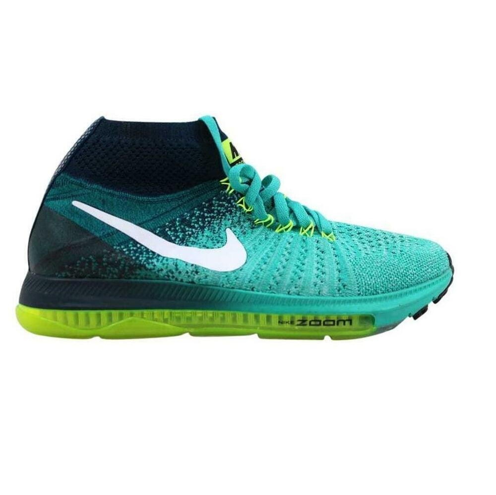 362f4b63fb23 Details about Womens NIKE ZOOM ALL OUT FLYKNIT Clear Jade Running Trainers  845361 313