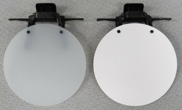 Eye Patch - WHITE OPAQUE, WHITE SOLID or BLACK - Clip On / Flip Up Occluder