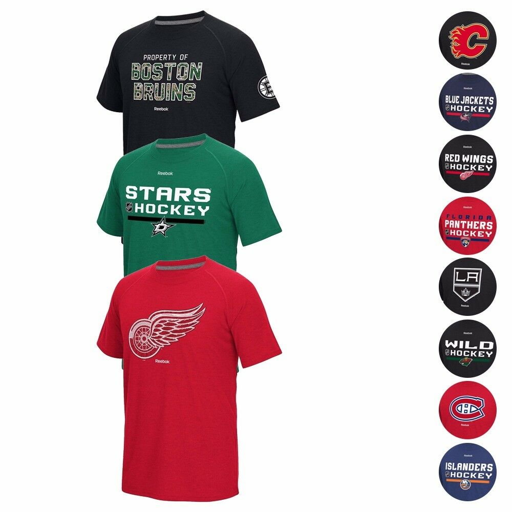 7c59c4f99eb Details about NHL Reebok Graphic PlayDry Performance Ultimate T-Shirt  Collection Men s