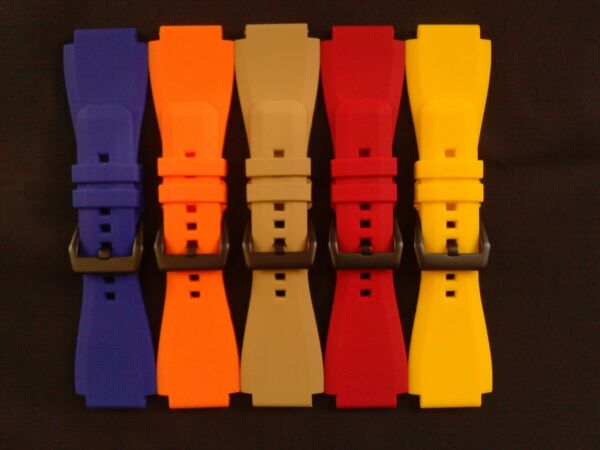 JaysAndKays® Replacement 24mm Silicone/Rubber Strap/Band for Zodiac ZMX-01