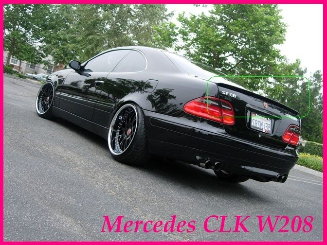 mercedes clk w208 c208 coupe rear boot spoiler 1998 2002. Black Bedroom Furniture Sets. Home Design Ideas