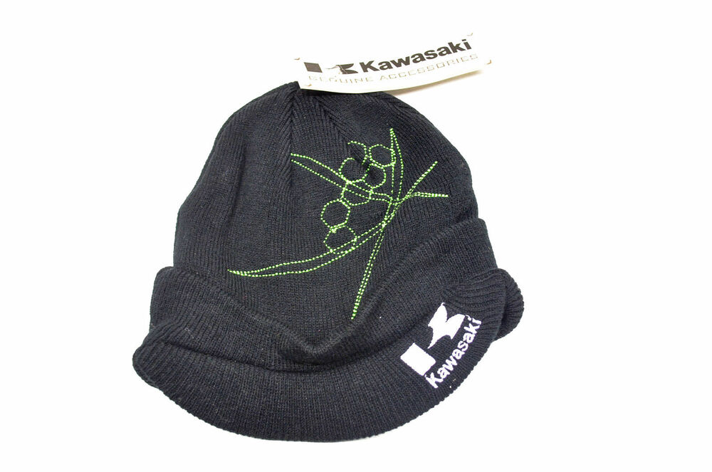 Details about NEW KAWASAKI CHOPSTIX BEANIE BLACK ADULT LOGO BRIM STOCKING  CAP  14.99 FREE SHIP 74f6d8fe13b