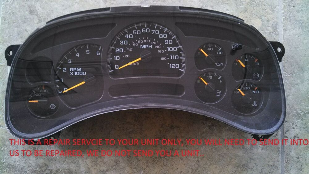 Details About 2003 2006 Chevy Silverado Sdometer Instrument Cer Gauge Repair Kit Ipc