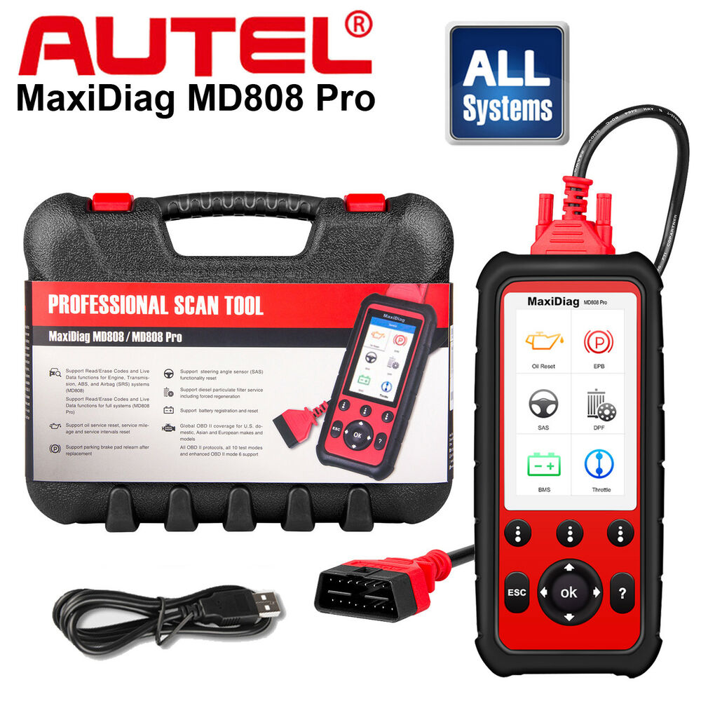 autel maxidiag md808 pro auto diagnostic tool obd2 code. Black Bedroom Furniture Sets. Home Design Ideas