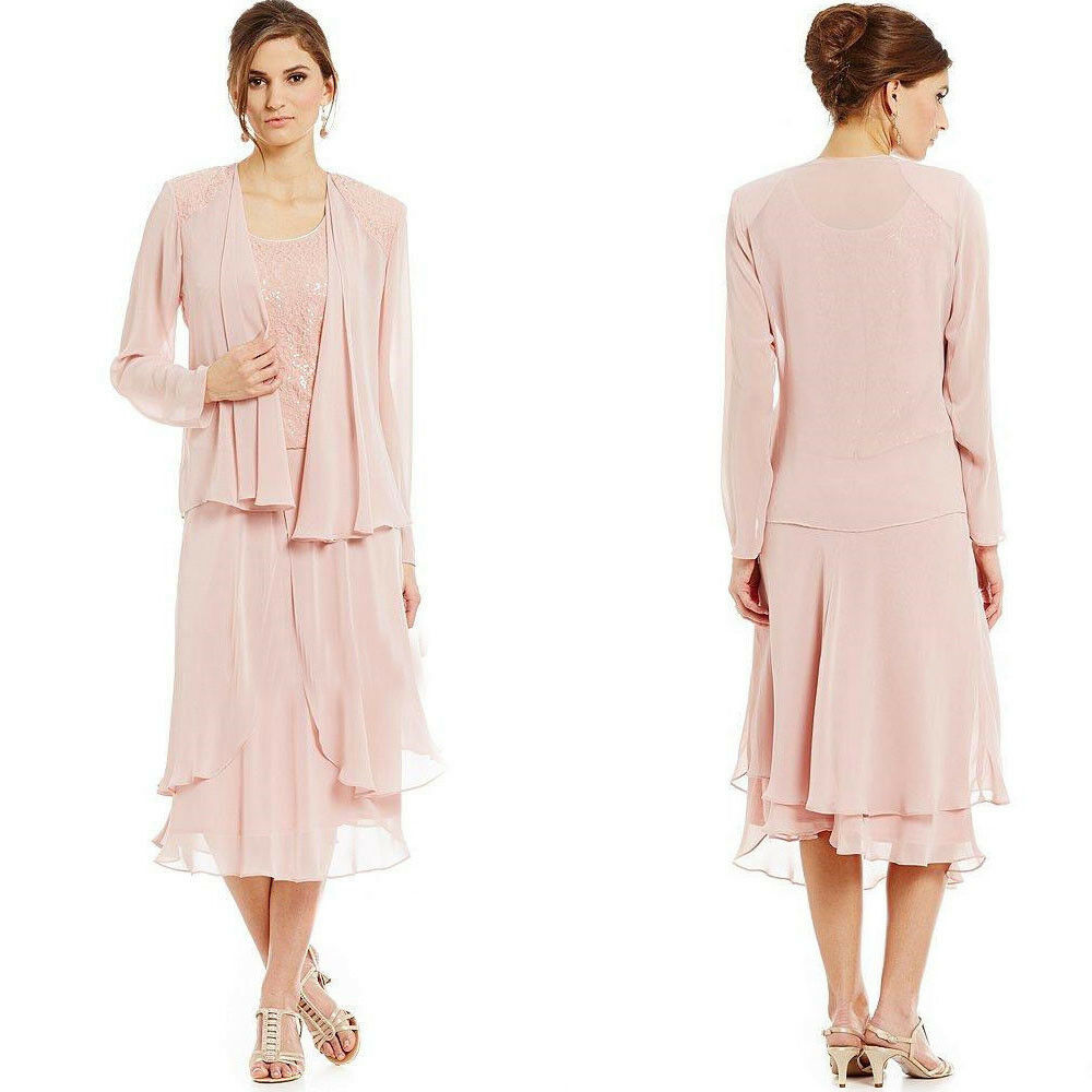 Mother Of The Groom Dress: Chiffon Mother Of The Bride Groom Dresses With Long Sleeve