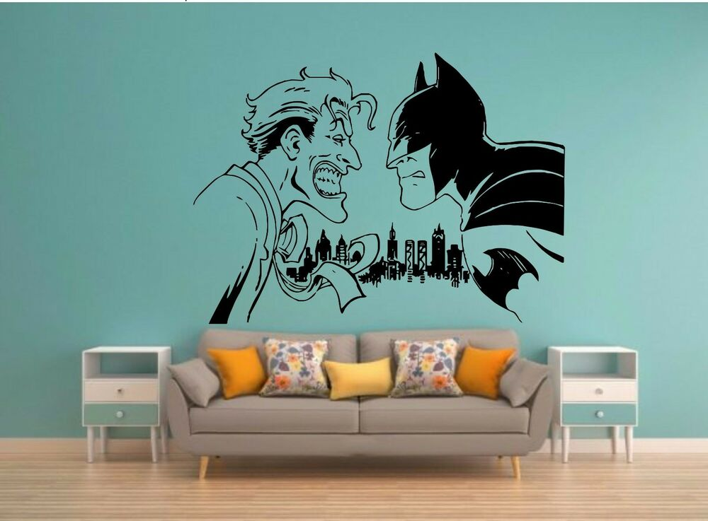Joker batman wall mural vinyl decal art sticker decor harley ebay