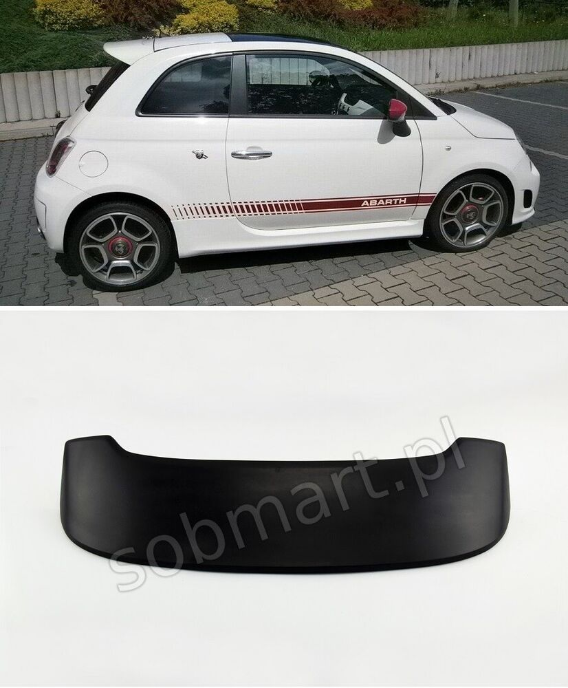 fiat 500 roof spoiler abarth tuning ebay. Black Bedroom Furniture Sets. Home Design Ideas
