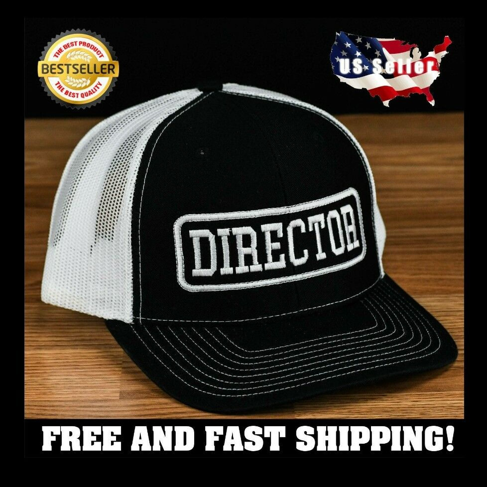 Details about Movie Director Embroidered cap hat black Richardson 112 custom  made e9e239b4424