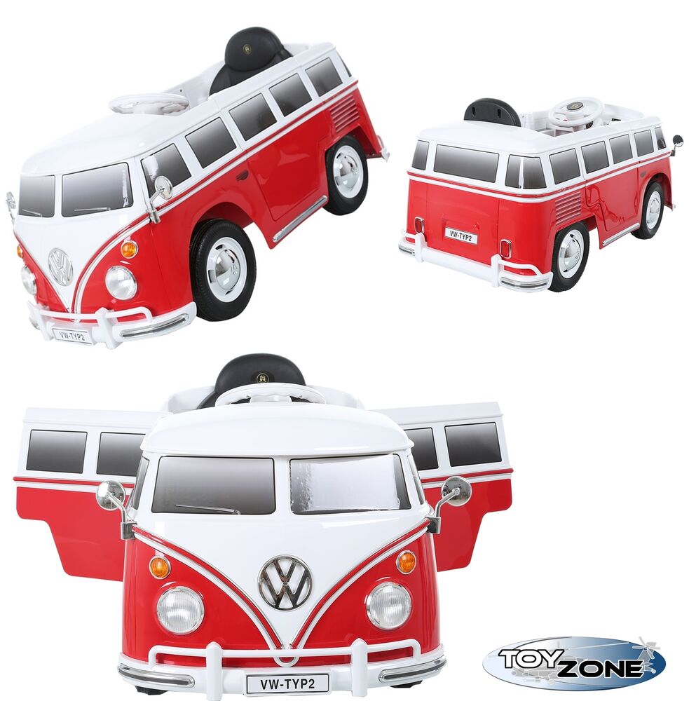 kinderfahrzeug 12v kinder elektro auto vw t1 camper samba bulli transporter bus 7596352019058 ebay. Black Bedroom Furniture Sets. Home Design Ideas