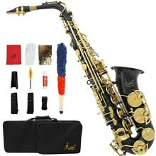 Professional Eb Alto Sax Saxophone Paint Black with Case Accessories Xmas Gift