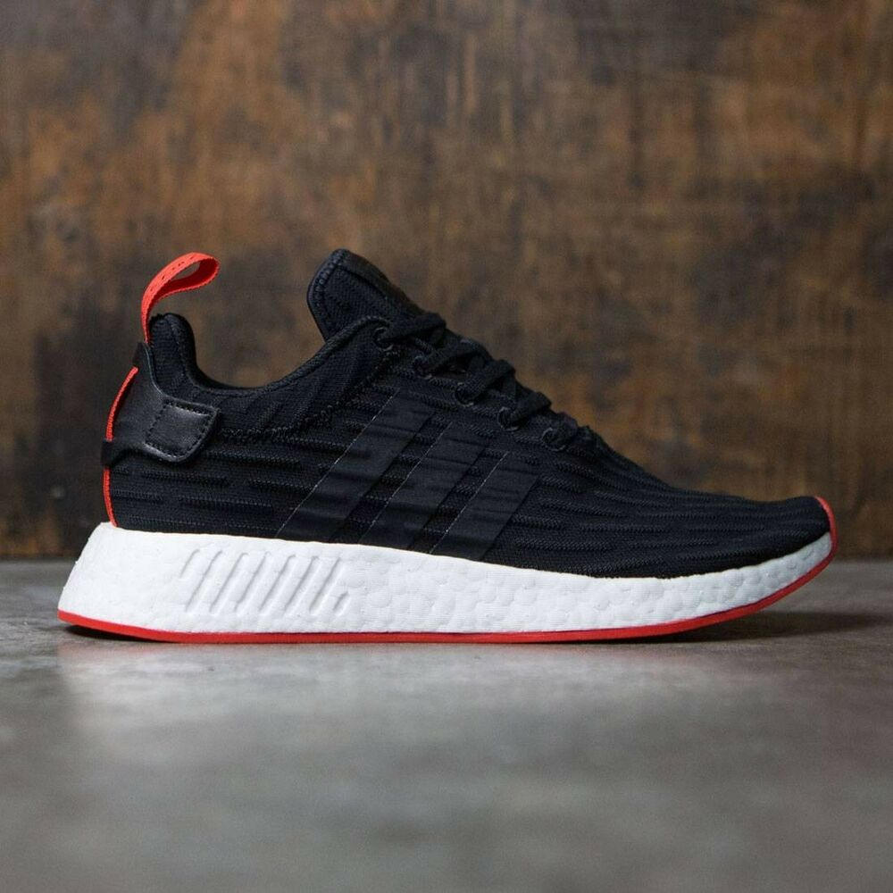 33e9f73d5 Details about Adidas NMD R2 PK Primeknit Black Red Size 10.5. BA7252 yeezy  ultra boost
